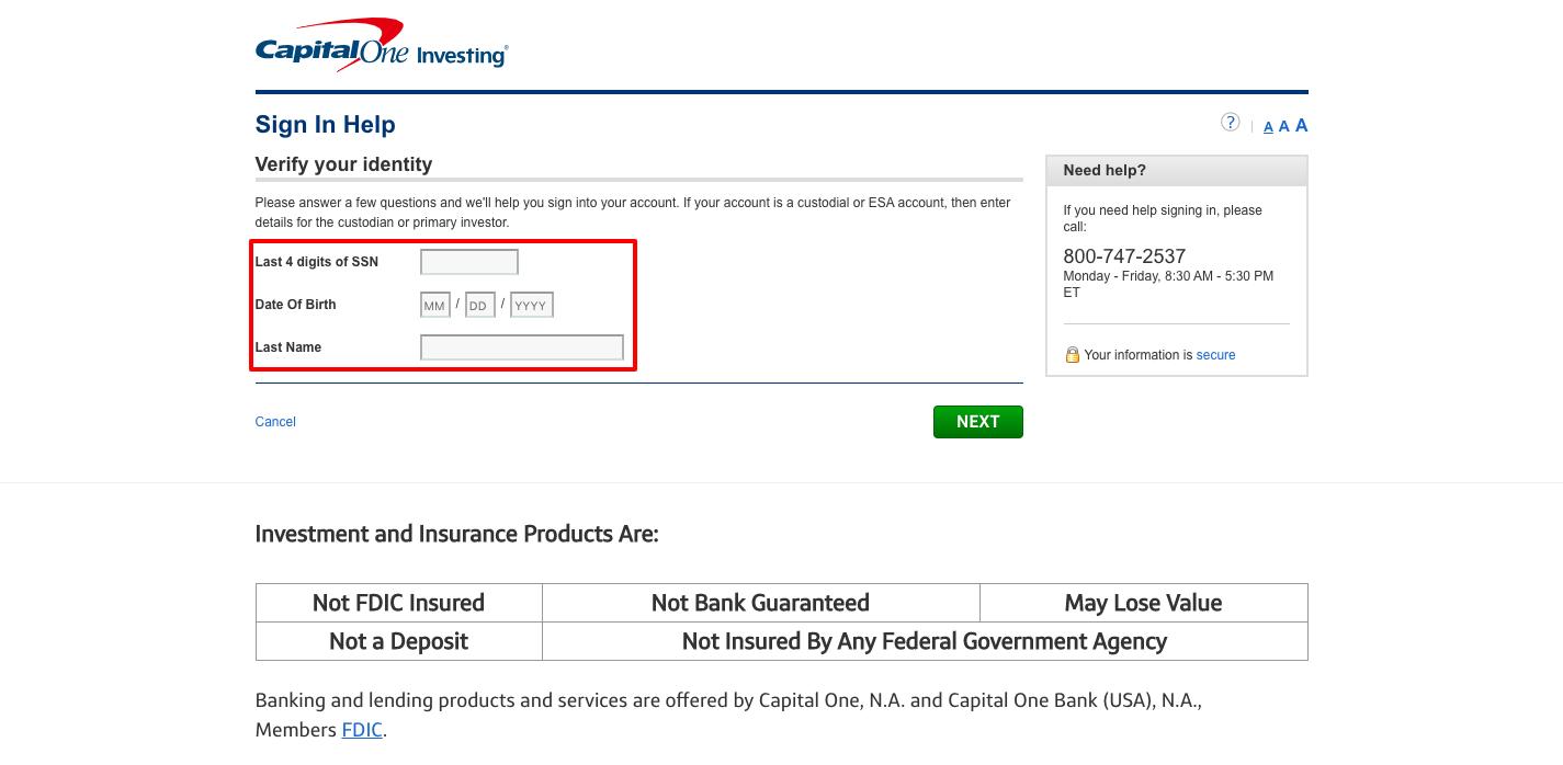 ShareBuilder Capital One