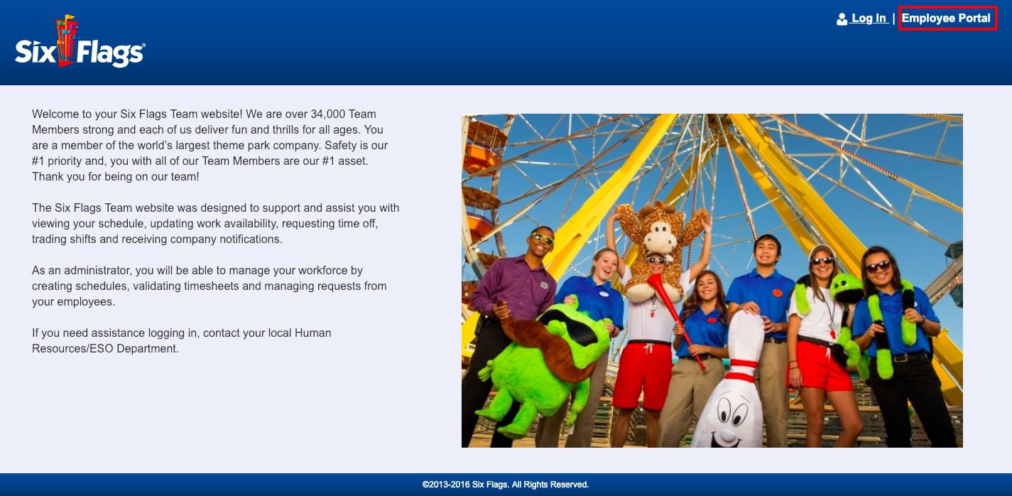 Six Flags Employee Portal