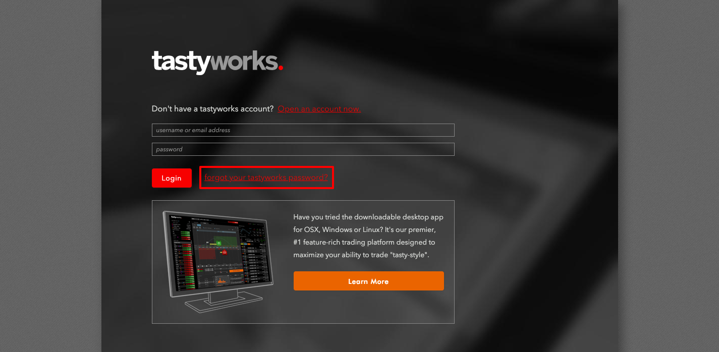 TastyWorks Account Opening Guide