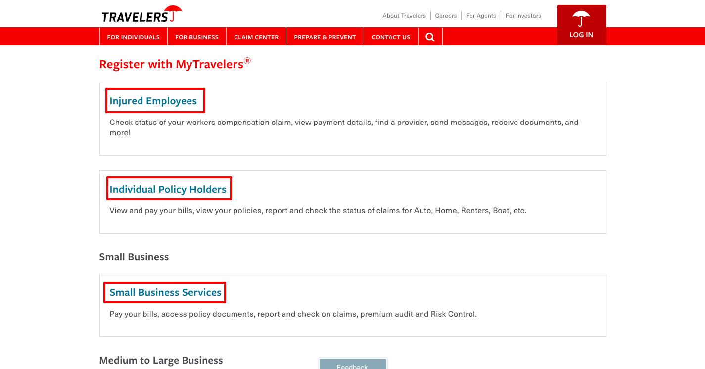 Travelers Insurance Account Login