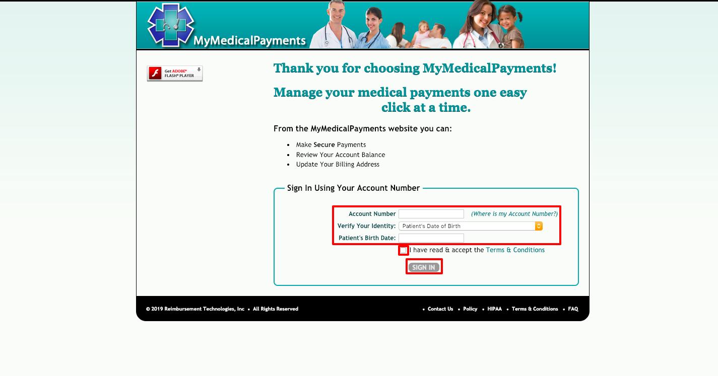 MyMedicalPayments Login