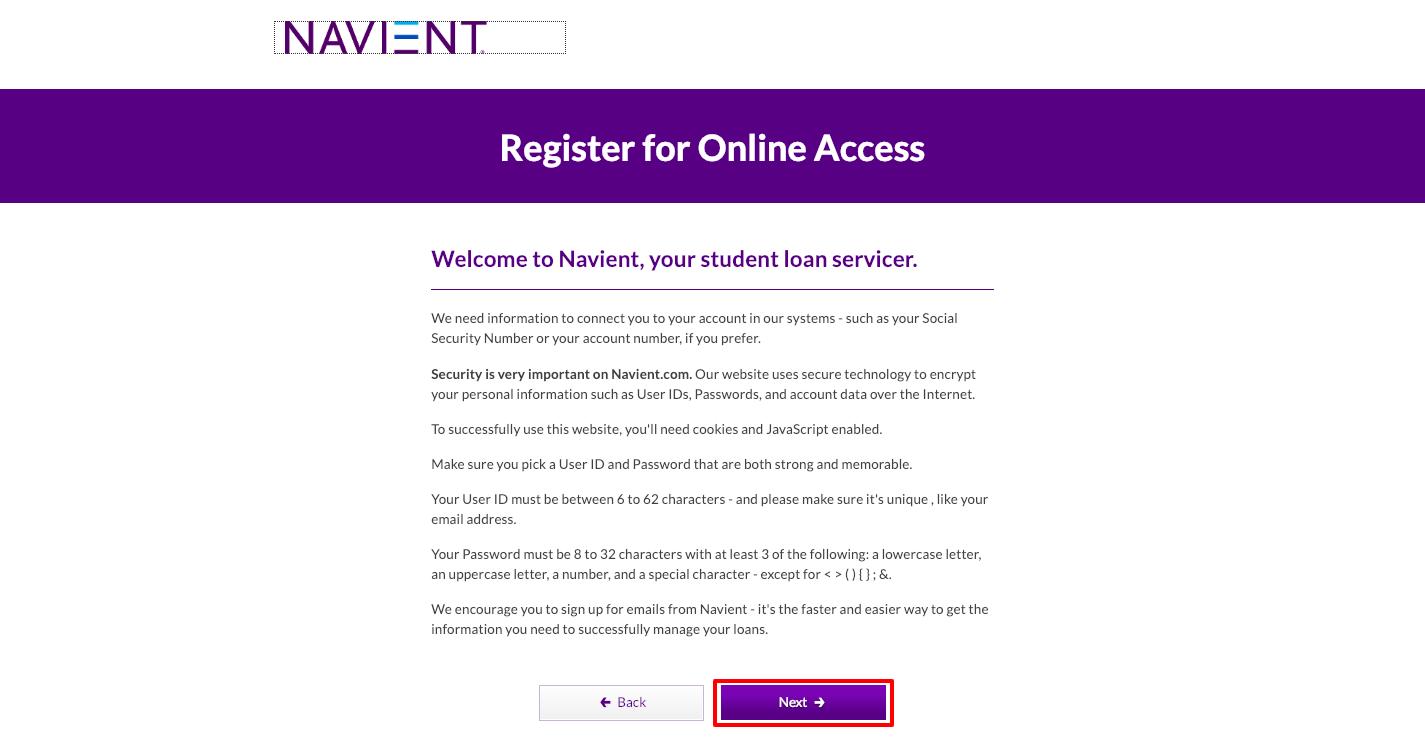 Navient Registration