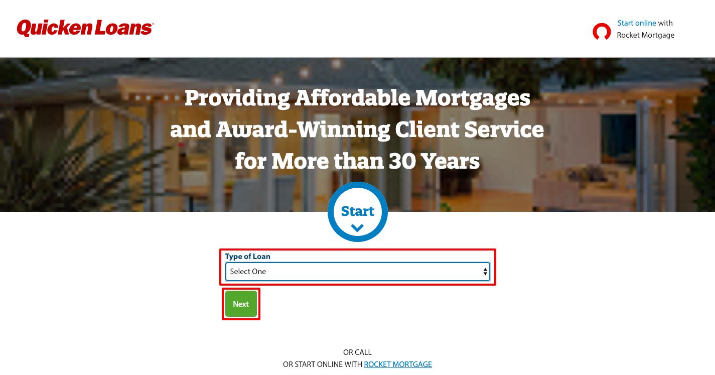 Quicken loans Rocket Mortgage