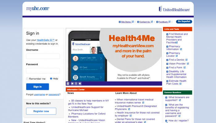 www.myuhc.com – United Healthcare Portal Login