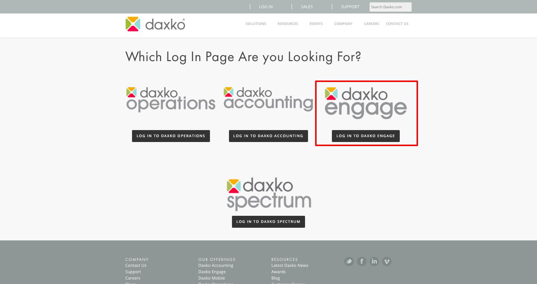 Daxko Operations Login
