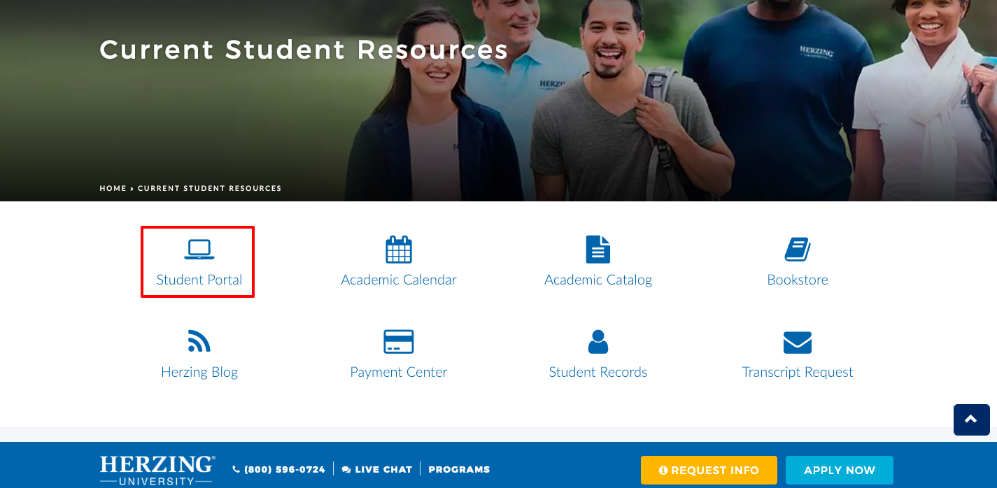 herzing university student login