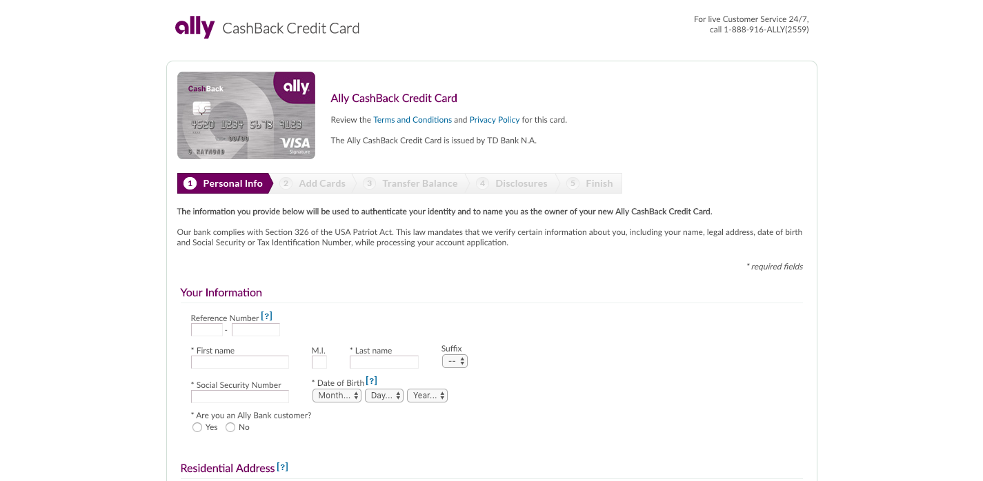 Ally Bank Credit Card