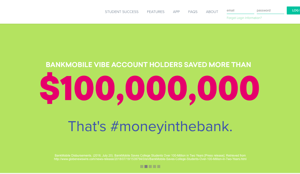 www.bankmobilevibe.com – Higher One Financial Aid Services Login Steps