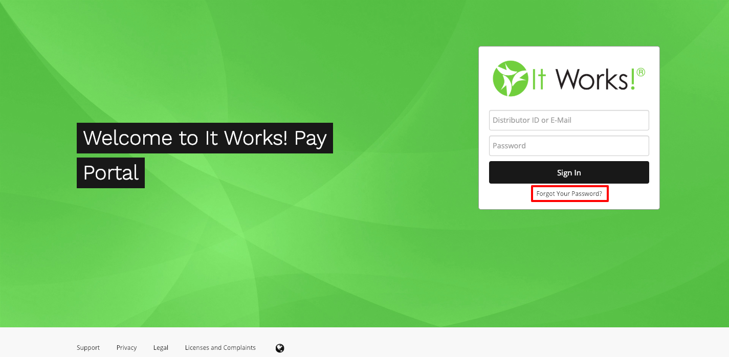 IT Works Pay Portal Login