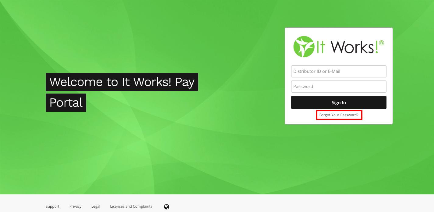 IT Works Pay Portal Login