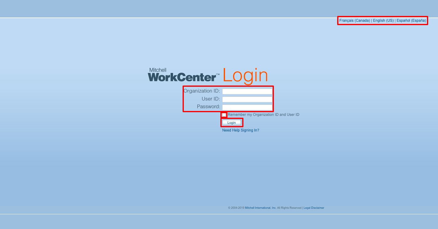 Mitchell WorkCenter Login