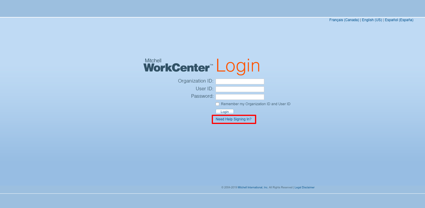 Mitchell WorkCenter Online Login
