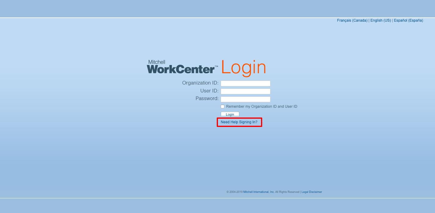 Mitchell WorkCenter Online Login