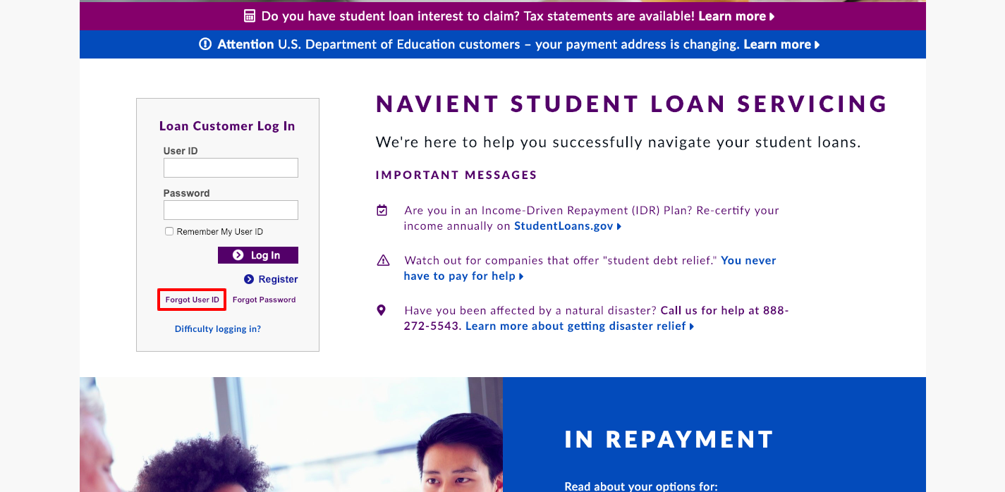 Navient Student Loan Account Login