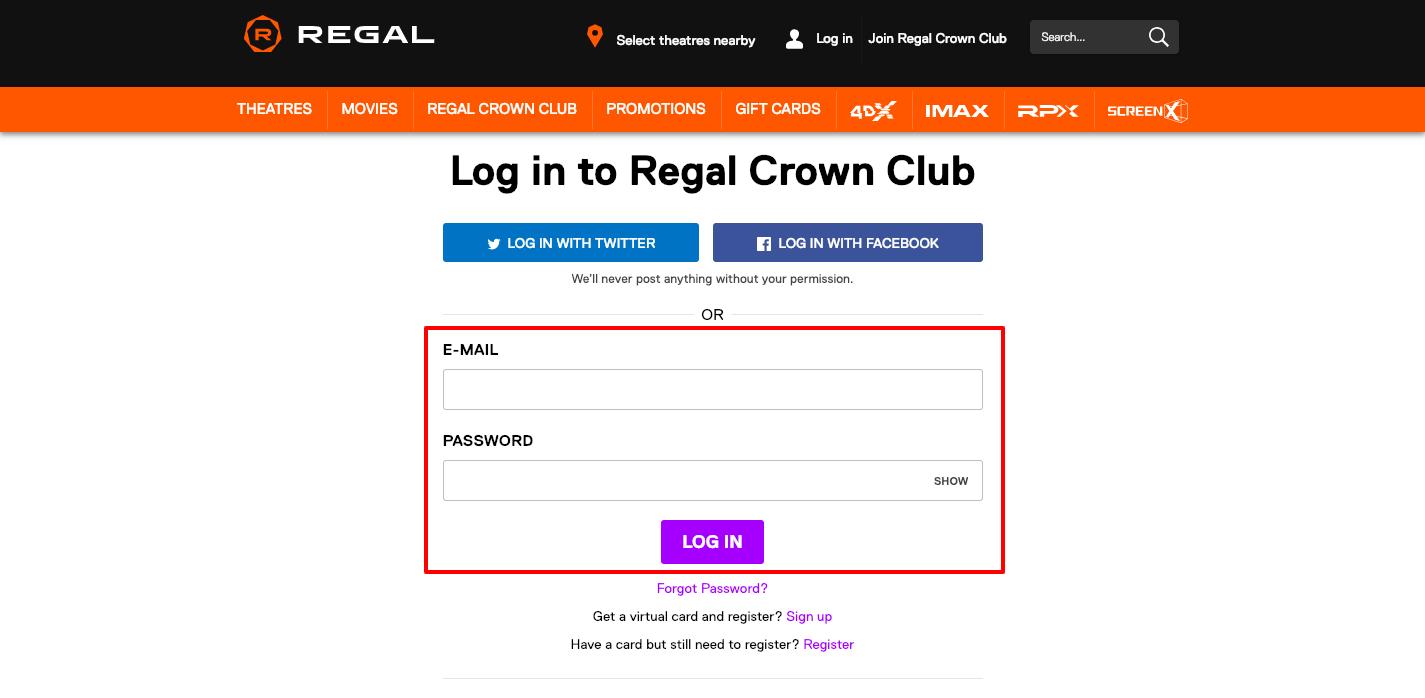 Regal Crown Club Login