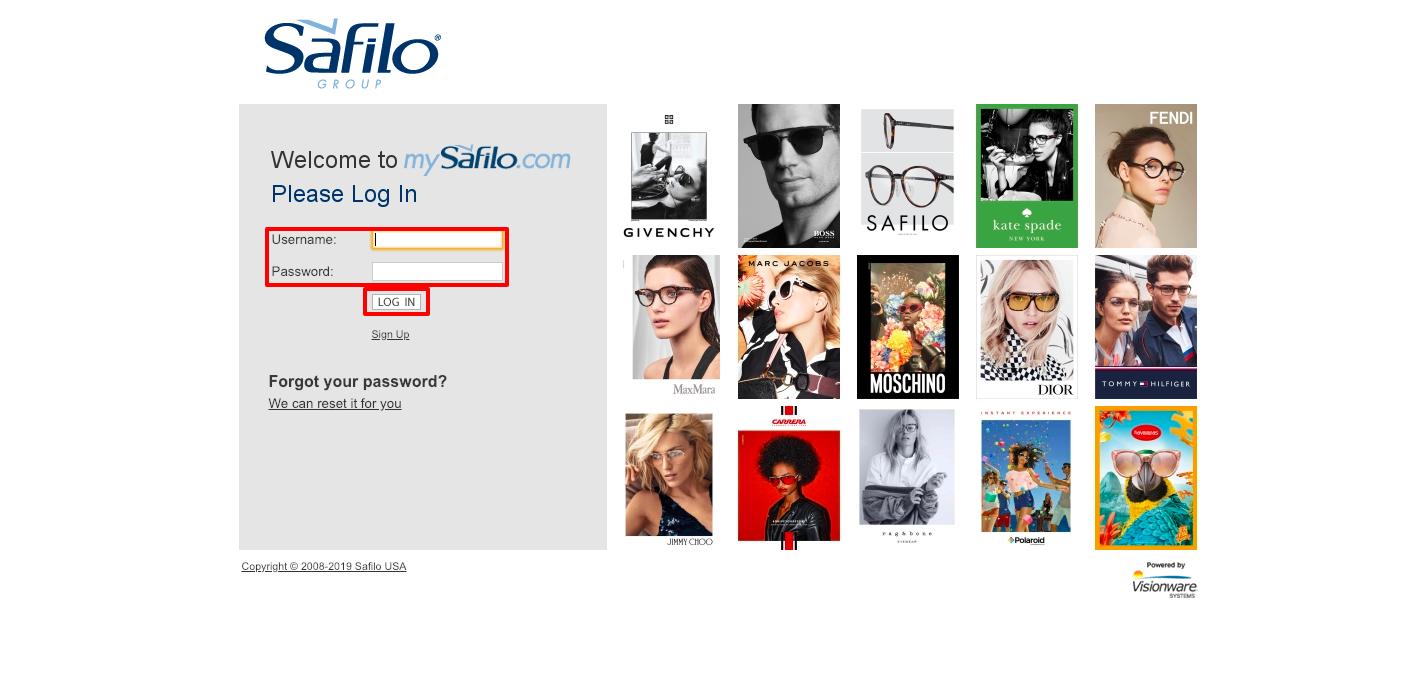 Safilo Eyewear Experience Login