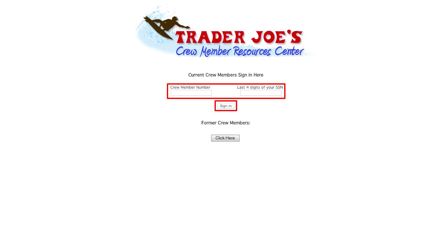 Trader Joe's Member Portal Login