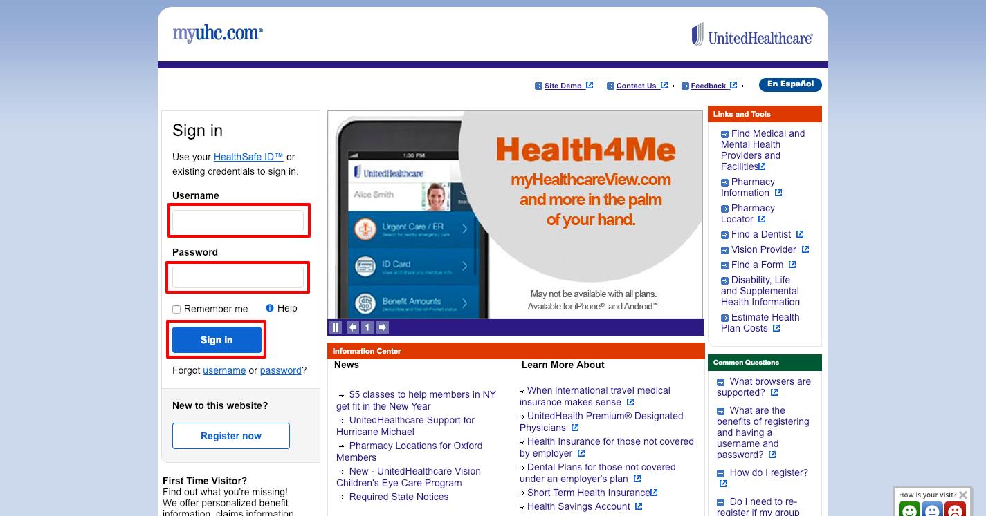 UnitedHealthcare login