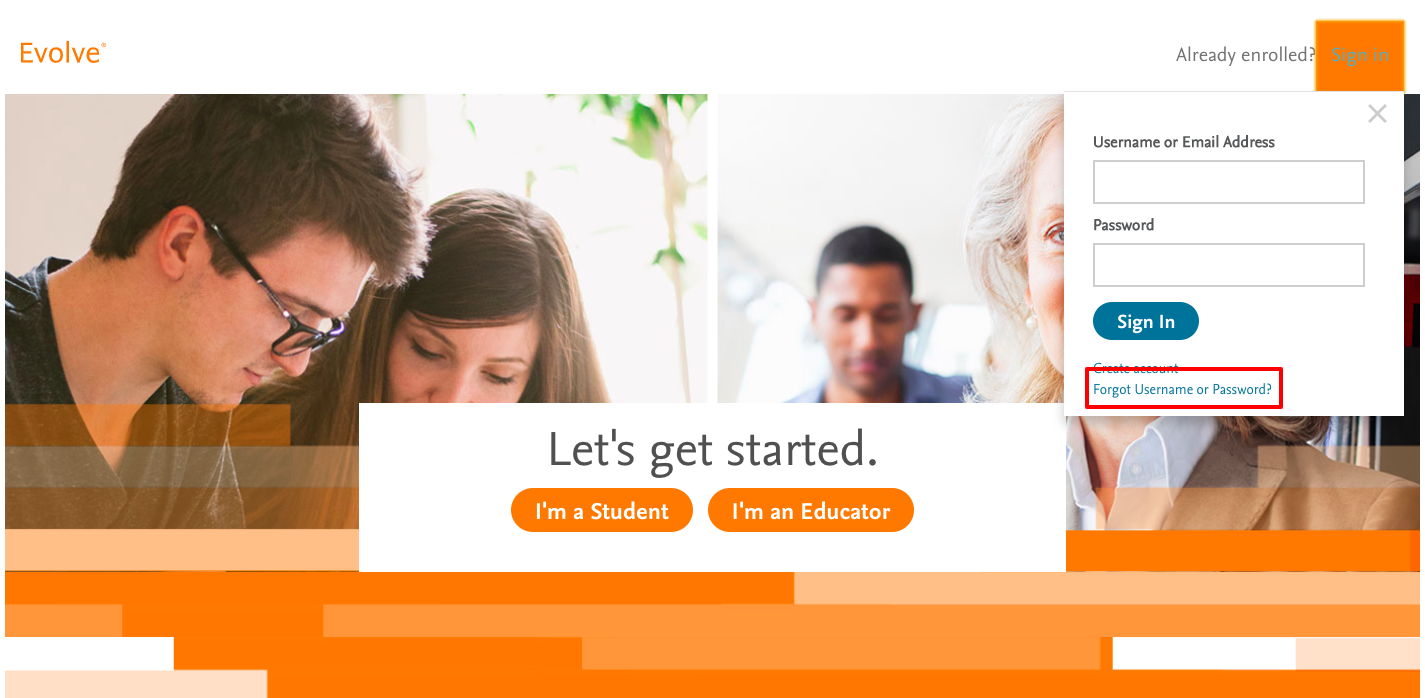 evolve elsevier educator login