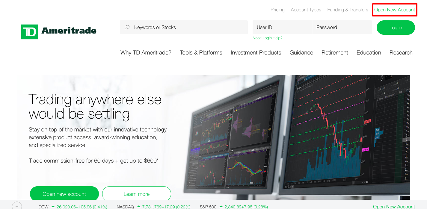 Ameritrade Login Guidelines