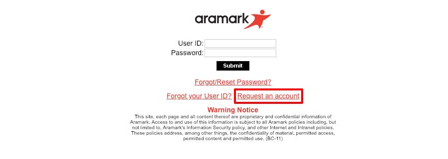 Aramark net Login