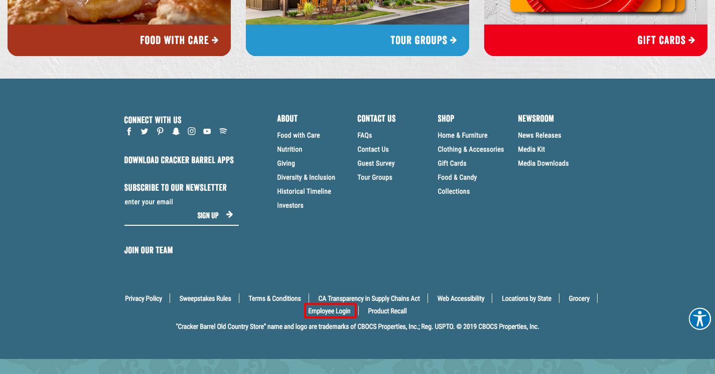 www crackerbarrel com - Cracker Barrel Employee Login Guidelines
