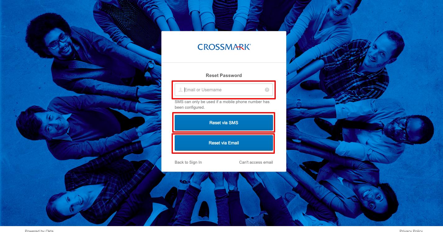 Crossmark login