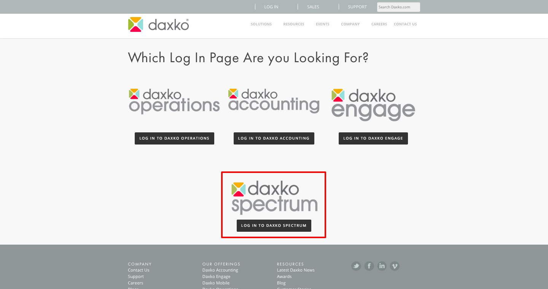 Daxko Spectrum Login