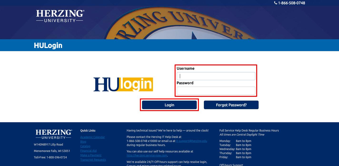 Herzing University Login
