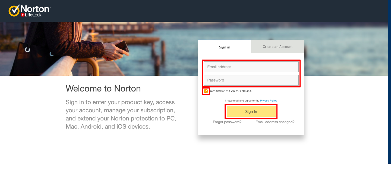 Norton Security Login
