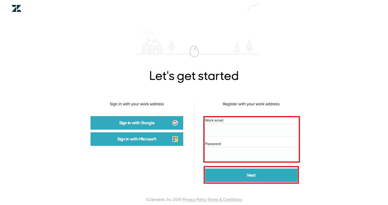 Register Zendesk
