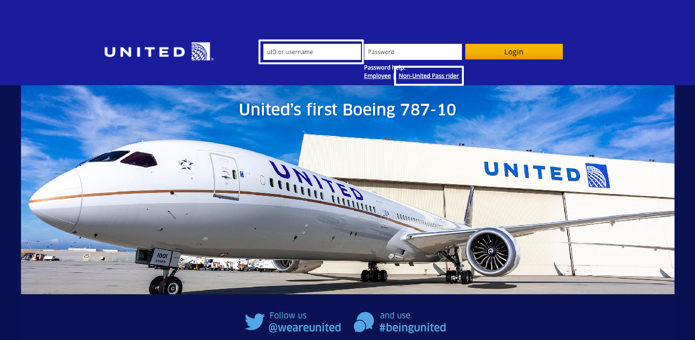 United Airlines Skynet Employee Login