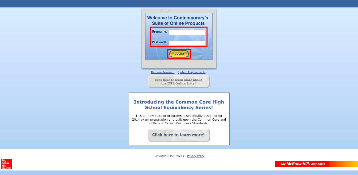 WgContemporary ITTS Login Guide