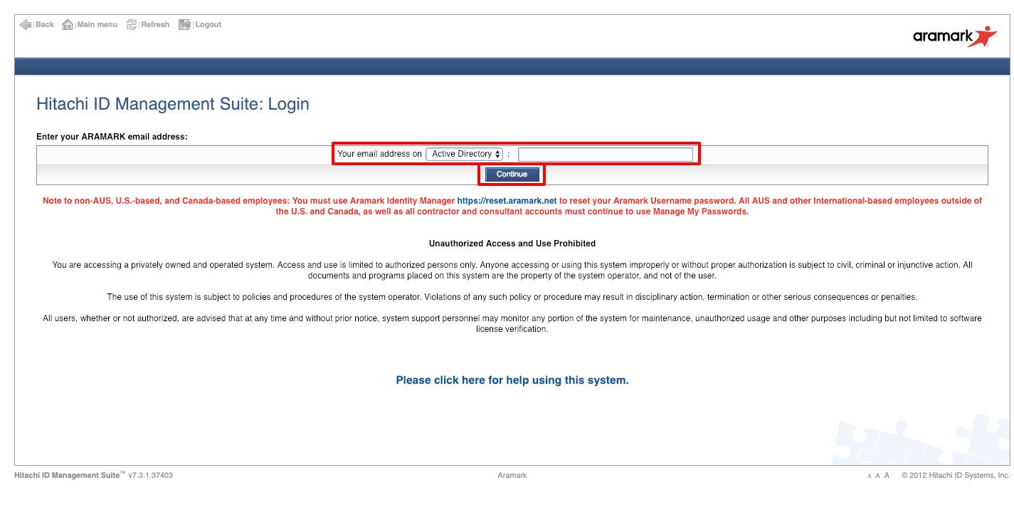 aramark benefits login