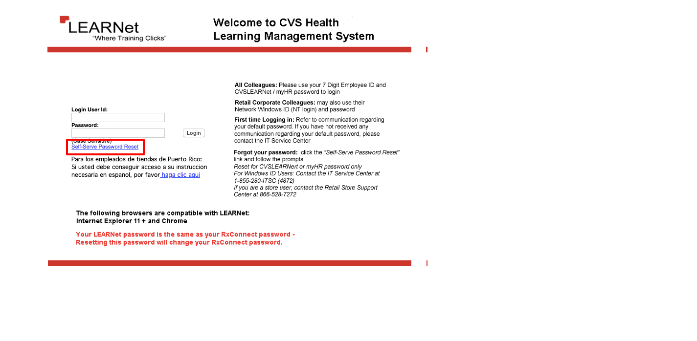 CVS Learnet login