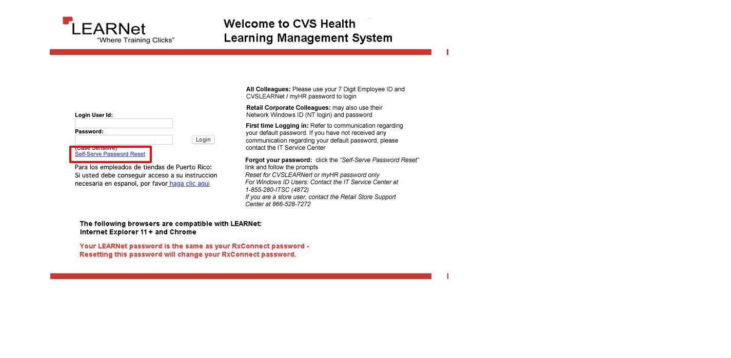 CVS Learnet login