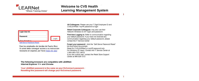 cvslearnet cvs com - CVS Learnet Employee Login Guideline
