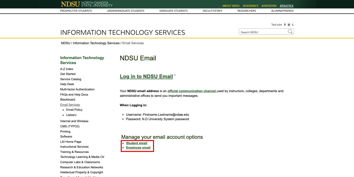 NDSU Webmail Login