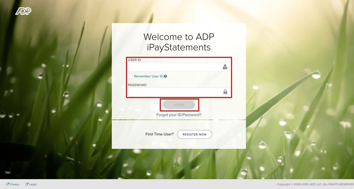 ADP iPayStatements employee Login