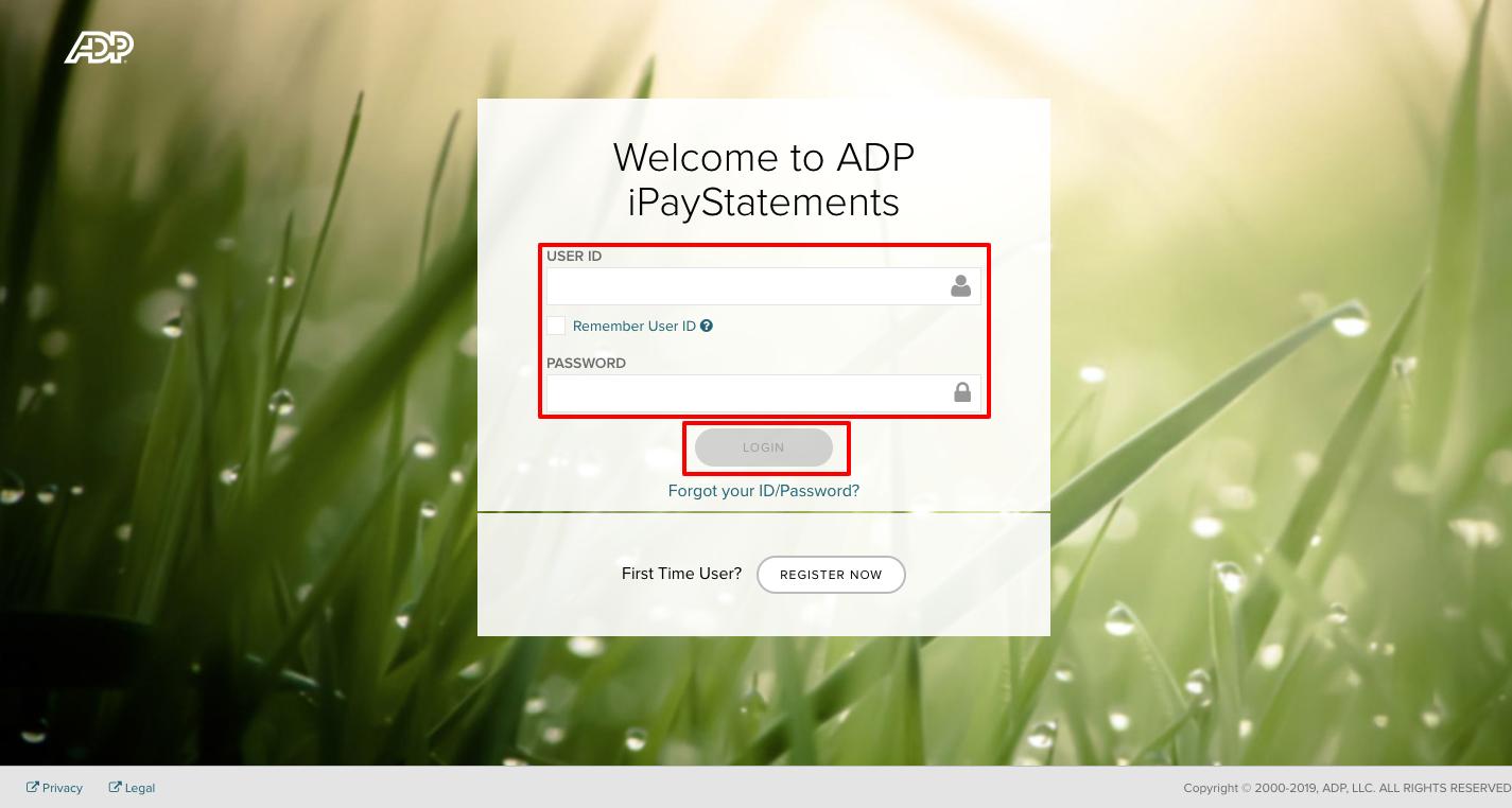 ADP iPayStatements employee Login