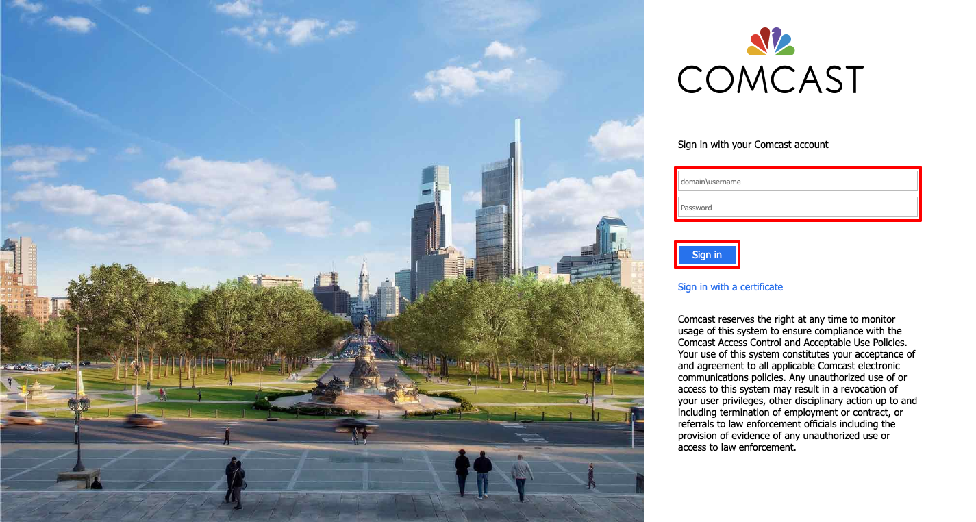 Comcast Webmail login