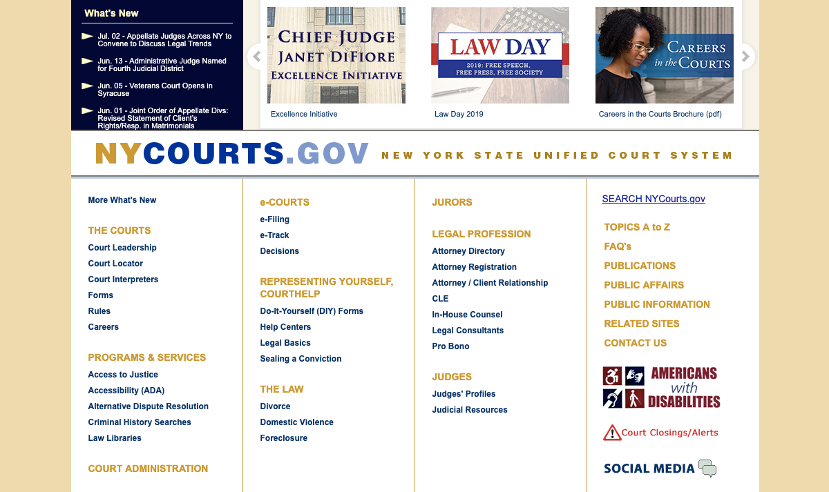 NYC State Unified Court System – Login and Troubleshooting Process