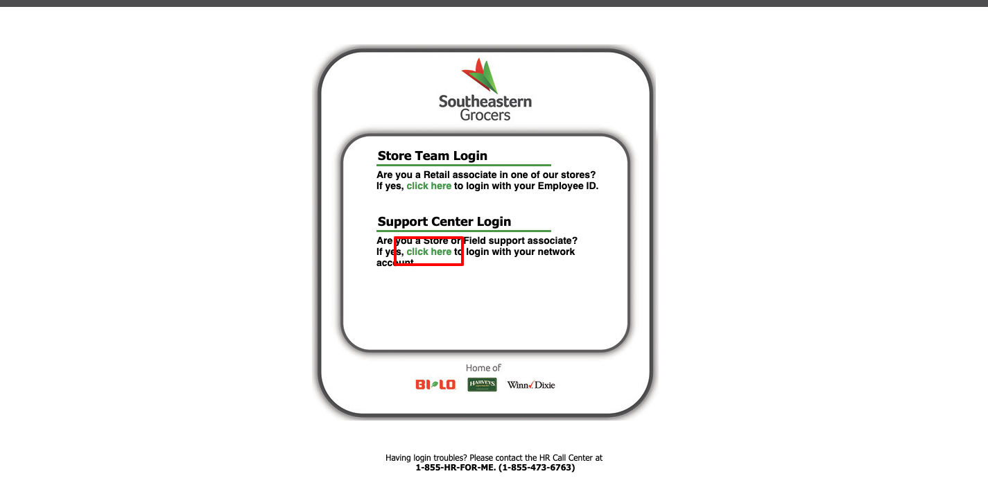Southeastern Grocers Support Center Login