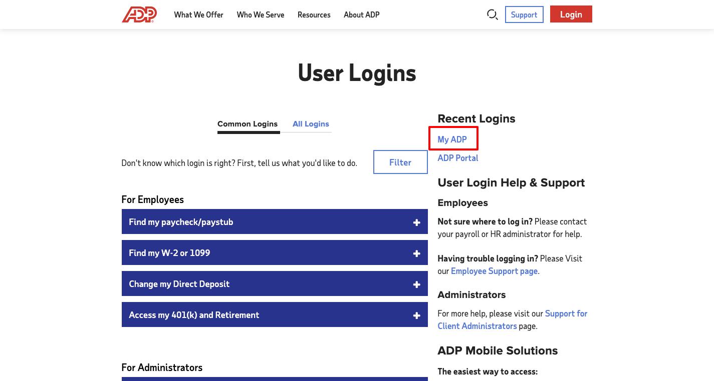 adp register