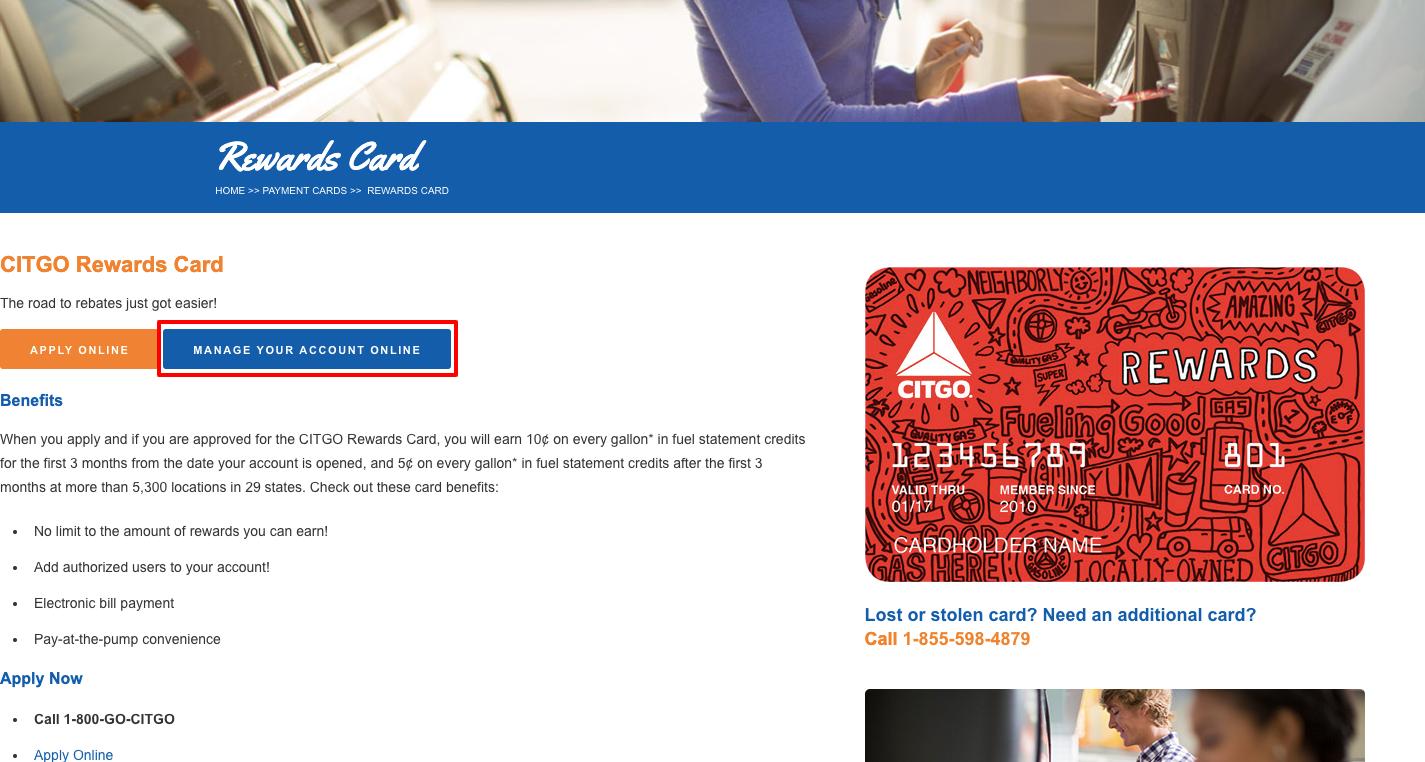 citgo credit card account online