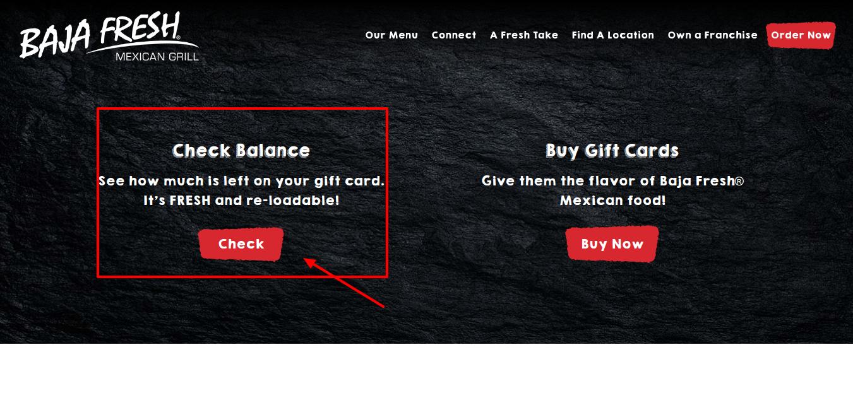 Baja Fresh Gift Card Balance Check