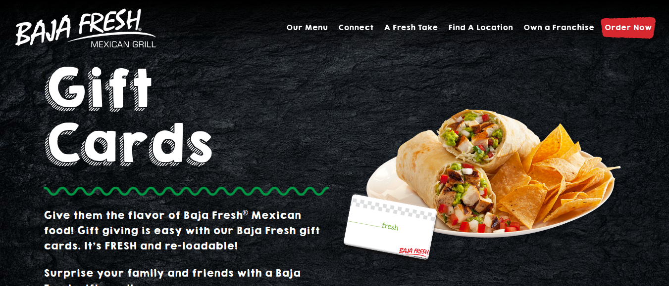 Baja Fresh Gift Card logo