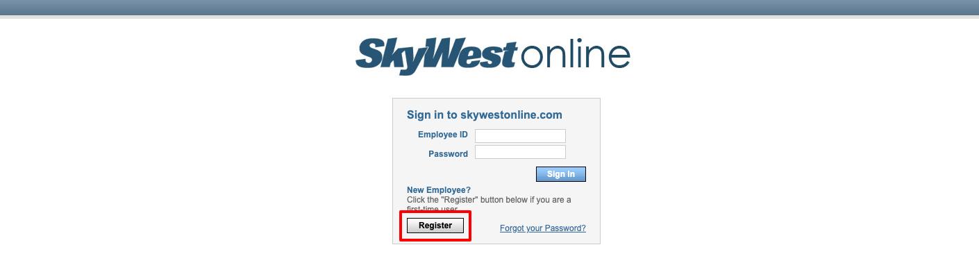 SkyWestOnline Register