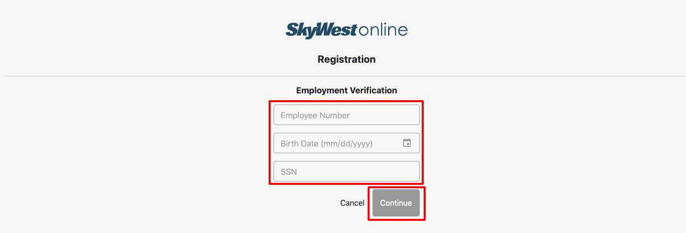 skywestonline employee register