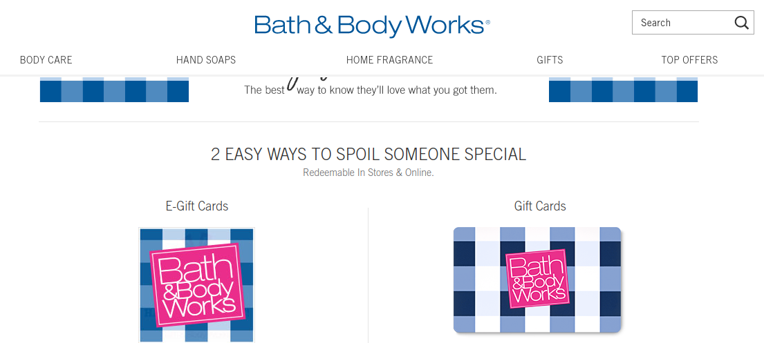 Bath And Body Gift Card Logo